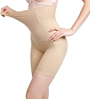 LJMOTOP Women Shapewear Bodysuit High Waist Trainer Tummy Control Shorts Panty Body Shaper Butt Lifter Thigh Slimmer