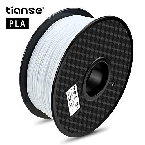 TIANSE Filamento de PLA para la impresora 3D / Pluma 3d, 1 kg 1,75 mm(Blanco)