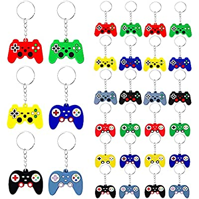 24 PCS Controller Keychain Game Controller Key Ring Mini Game Handle Keychain video game keychain pendant for Video Game Party Supplies Birthday Favors Baby Shower Gifts from PPXMEEUDC
