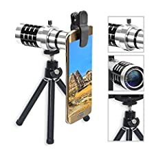 HIGH QUALITY CELL PHONE LENS - Made ofhigh-class glass lens + aluminum alloy shell and telephoto lens, uses ABS material as the clip. Sturdy and Stable,hold your phone safe . 5 in 1 PHONE LENS-0.63X Super Wide Angle Lens + 15X Macro Lens+198° Fishey...