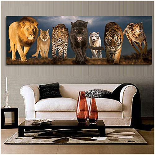 5D Diy Diamond Painting Kit Bestia Full Drill Rhinestone Crystal Embroidery Cross Stitch For Adults Kids Arts Craft Canvas Pictures By Number Set For Living Room Bedroom Wall Decor C7063 50X100Cm