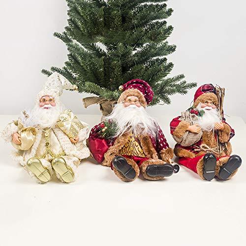 Mhwlai Weihnachtsdekoration Weihnachtsmann, sitzend Puppe Stoff Weihnachtsbaum hängende Puppe klassisches Weihnachtsbaum Anhänger Kinder Geschenk Spielzeug,B