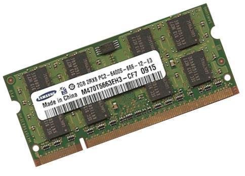 Samsung - Módulo de memoria DDR2-800 (PC2-6400, 128Mx8x16, 2 GB, 200 pines, doble canal)