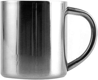 Stainless Steel Coffee Cup Double-Layer Household Kids Coffee Mug Bottle snowvirtuosau