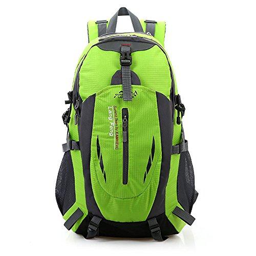 Minetom Sacs De Trekking 55L Grande Capacité Voyage Multifonctionnel Imperméable Sac À Dos Adulte Extérieur Randonnée Camping Vert One Size(32*25*50 cm)