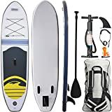 Inflatable Stand Up Paddle Board with Surfing Accessories – Perfect for Beginners and Experts – Conveniently Portable – Stable Design