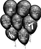 Funny Abusive Old Age Birthday Party Balloons (Brutal Edition) - Pack of 32 with 8 Different Phrases Brand: Sweet Blaze Party Supplies