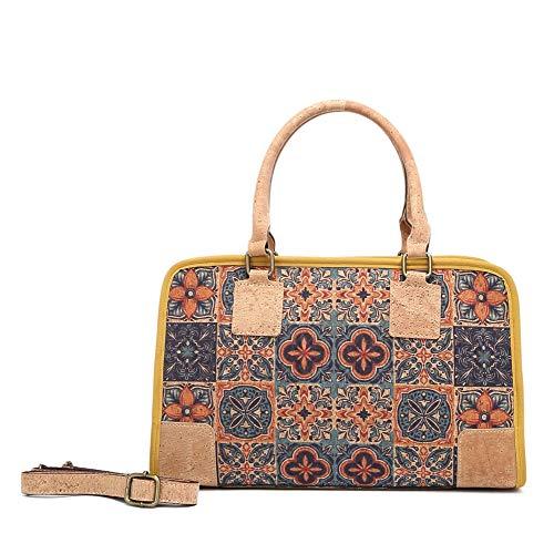 MenKai - Borsa a tracolla in sughero portoghese stampata da donna, borsa di moda, borsa a tracolla-Réf.722119