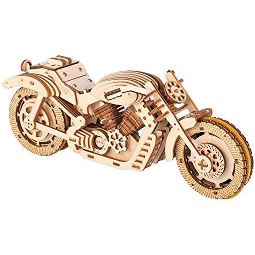 CCCYT Puzzle 3D Madera, Maqueta de Moto Mecanicas para Montar, Rompecabezas Madera...