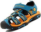 Sandali Sportivi per Bambini Ragazzi Ragazze Estivi Escursionismo Bambina Bambino Outdoor Scarpe da Spiaggia Trekking Blu Scuro Gr.26