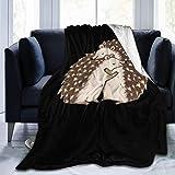 LUCKY Home Lindo erizo de dibujos animados abrazos manta reversible súper suave cálido acogedor edredón mantas otoño invierno