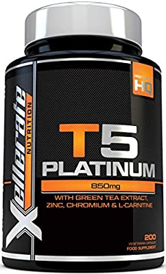 T5 Fat Burners - 200 Capsules - 100% MONEYBACK GUARANTEE - UK Manufactured - Thermogenic Fat Burner Suitable for Vegetarians & Vegans - Slimming Pills to Bust Belly Fat - Weight Loss Pills That Work, Ingredients Include Green Tea Extract, Green Coffee Bea