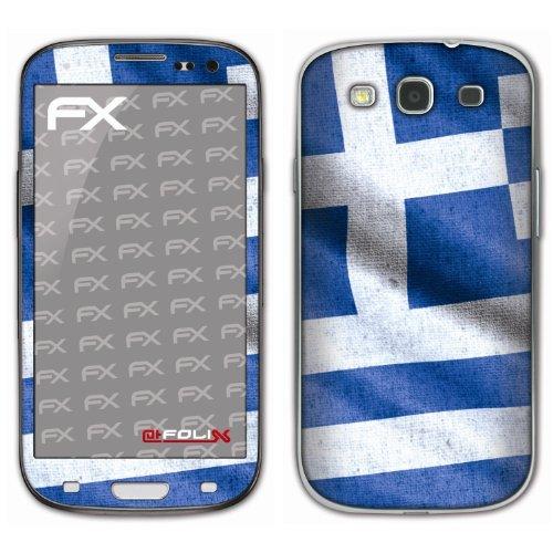atFoliX voetbal 2012 designfolie voor Samsung Galaxy S3 GT-I9300, Griekenland vlag, Afbeelding