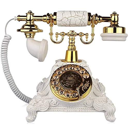 Teléfono Retro Teléfono Antiguo, clásico, Creativo, Tocadiscos Giratorio, teléfono Antiguo, para la decoración la Sala Estar del hogar la Oficina, Bronce Verde