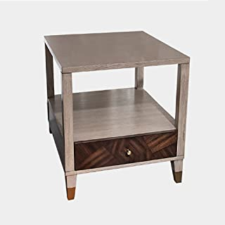 Bedside Table Bedside Table-Drawer Locker Small Coffee Table Double Floor Wood with Drawers Breakfast Table Nightstand