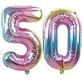 Ouinne Globo 50 Años, 32 Pulgadas Globo del Cumpleaños Nú
