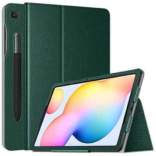 TiMOVO Kompatibel mit Samsung Galaxy Tab S6 Lite 10.4 Inch 2020 (SM-P610/P615) Hülle, Kunstleder Ständer Schutzhülle mit Auto Schlaf/Wach Kompatibel mit Galaxy Tab S6 Lite 10.4 2020 Tablet- Nachtgrün