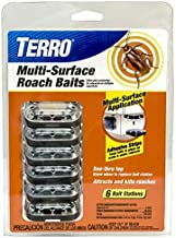 Terro T500 Multi Surface Roach Killer-6 Bait Stations, 1 Pack, Black