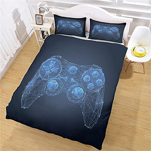 Ropa De Cama Barata 3D Impresión 135x190cm Mango Azul Abstracto Bedding Juego De Funda De Edredón - Microfibra Funda De Nórdica Y 2 Fundas De Almohada 50X75Cm (Cama 135/150)