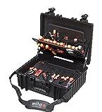 Wiha Werkzeugkoffer gefüllt (40523), 80 tlg., Werkzeug Trolley bestückt für Elektro-Installationen, mit Rollen, mit Werkzeug befüllt, für Elektriker, VDE Werkzeug für Profis