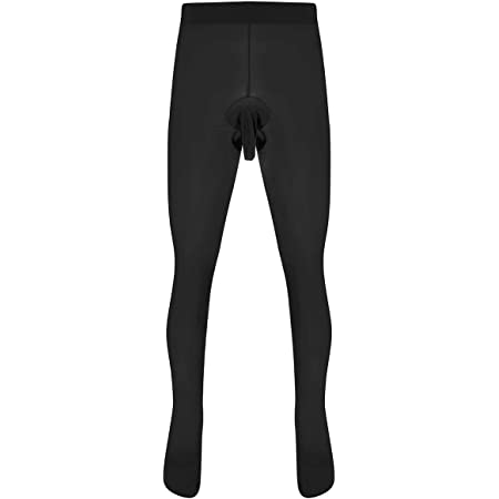 Yeahdor Men's Skinny Stretchy Pantyhose Tights Seamless Hosiery Open Sheath Underwear Legging Stockings