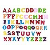Exceart - 50 letras de fieltro no tejido, letras de colores, letras de costura, artesanales, accesorio hecho a mano para niños, regalos, scrapbooking