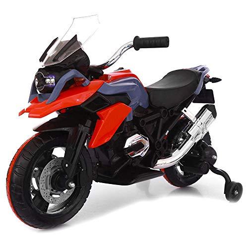 Moto Motocicletta Elettrica Moto Flower Rossa 12V per Bambini