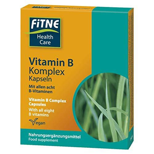 Fitne Vitamin B Komplex 60 Kapseln, 37g, für starke Nerven und Leistungsfähigkeit