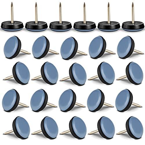 Filzada 26x Teflongleiter Nagel - Ø 19 mm (rund) - Möbelgleiter/Teppichgleiter PTFE (Teflon) inkl. Schrauben