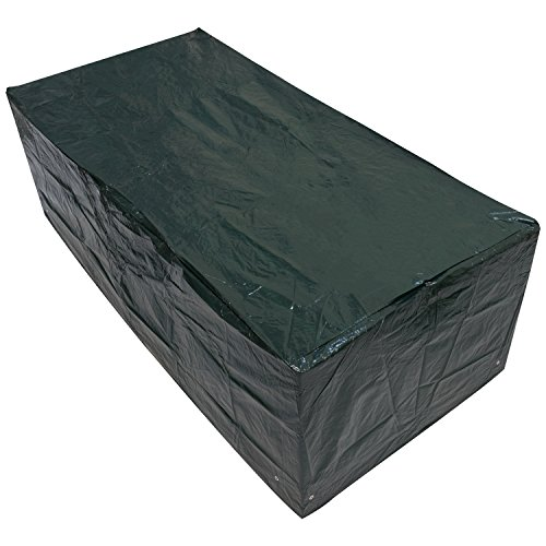 Woodside Large Rectangle Outdoor Garden Table Cover 2.05m x 1.04m x 0.71m / 6.75ft x 3.4ft x 2.3ft