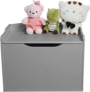 Walgreen  Wooden Kids Toy Box Storage Unit Chest Ottoman Trunk Nursery Bedroom Home  Grey