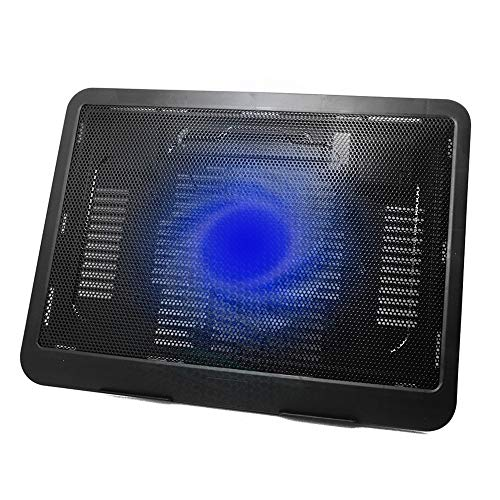 Laptop Cooling Pad, Laptop Cooler Portable 2 USB Powered, Laptop Notebook Cooler Cooling Pad Stand Chill Mat with 1 Blue LED Fans, Fits 12-14 Inches