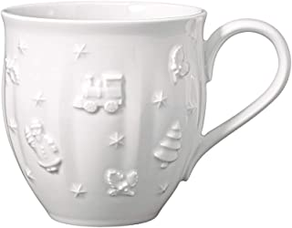 Villeroy & Boch – Toy's Delight Royal Classic Mug with Handle, Large Mug with Relief Pattern, Premium Porcelain, 0.5 l, Wh...