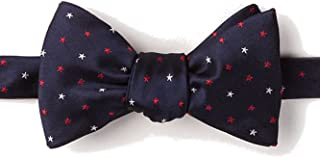 Men's Patriotic Stars USA 4th of July Butterfly Self Tie Bow Tie