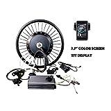 theebikemotor 19' Motorcycle Rear Wheel 72V8000W Hub Motor Bicicleta eléctrica Kit de conversión 150Amp Sine Wave Controller (Hydraulic Disc Brake + Bluetooth)
