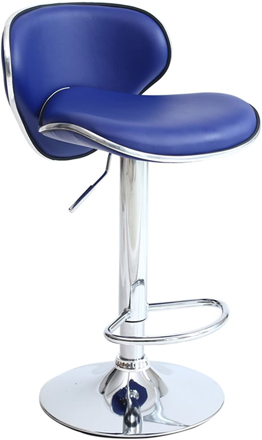 SCHUNlian Leisure Backrest Chair, redate Bar Bar Counter Manicure Store Chair Retro Front Desk Household Balcony Lounge Chair 38.5  38.578CM Durable and Strong (color   bluee)