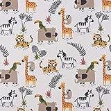 SCHÖNER LEBEN. Baumwollstoff KANAKI Dschungeltiere Giraffe