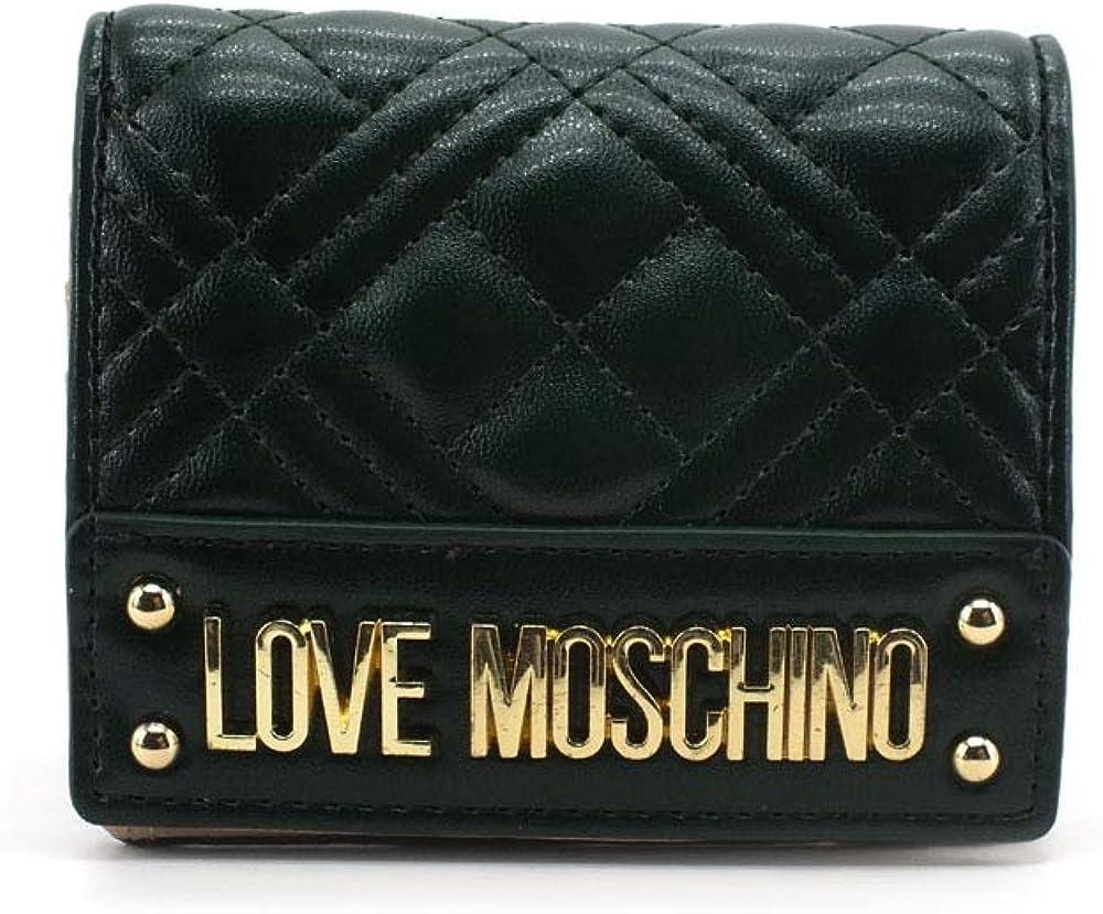 Love moschino, love moschino, portafoglio da donna, porta carte di credito, in pelle sintetica Jc5631pp0bka0