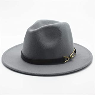 2019 Mens Womens Hats Womens Fashion Wool Polyester Fedora Hat for Women Wide Brim Hat Autumn Fascinator Jazz Hat Casual Wild Jazz Hat Size 56-58CM Adjused Size Soft