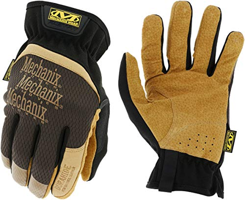Mechanix Wear: DuraHide FastFit Leather Work Gloves (X-Large, Brown/Black)