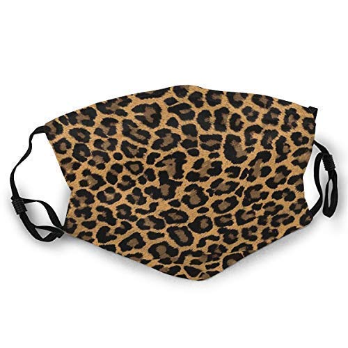LOSAYM Face ma_s-kEsquí con estampado de leopardo ma_s-kHat Neck Polaina Sombreros para mujeres Hombres