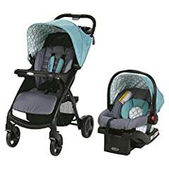 "Includes the Graco top-rated Snug Ride Click Connect 30 Infant Car Seat, rear-facing from 4-30 lbs. and up to 32"" Click Connect system provides a one-step, secure attachment of infant car seat to stroller, with an audible click Suspension gives your ..."