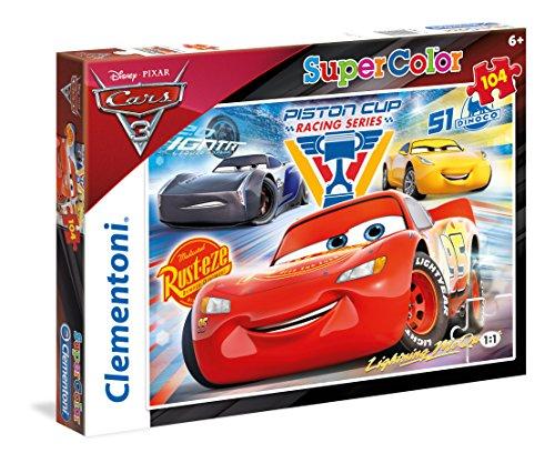Clementoni- Cars 3 Supercolor Puzzle, Multicolore, 104 Pezzi, 27072