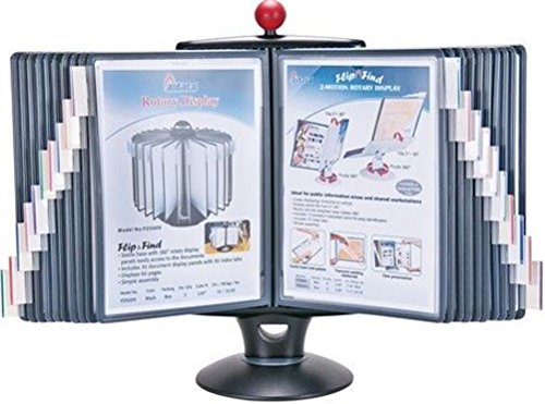 Aidata IFS001L E-Z Rotary Reference Organizer With Whiteboard 360 Degrees of Swivel Rotation and 20 Display Panel For Up To 40 Pages
