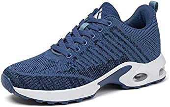 Mishansha Women's Non-Slip Tennis Walking Shoes Lightweight Arch Support Sports Gym Shoes Jogging Running Sneakers Athletic Anti-Slip Casual Shoes 8 Blue