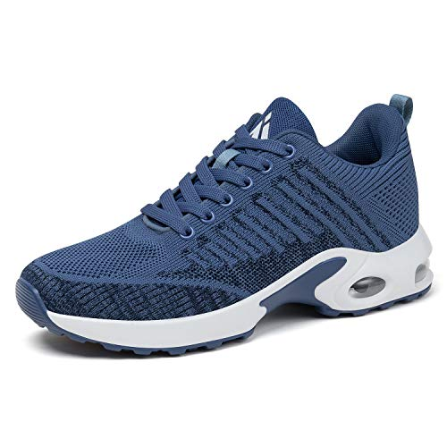 Mishansha Women's Walking Tennis Shoes Lightweight Lace Up Arch Support Gym Sports Shoes Athletic Jogging Running Sneakers Anti-Slip Casual Shoes 7 Blue