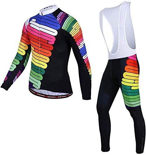 Song Men's Cycling Jersey Winter Sportswear Set Windproof Thermal Jacket + 3D Pants Trousers,D-S