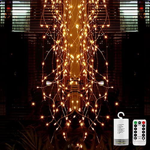 Led Lichterbündel, Lauva Gießkanne Lichterkette 8 Modi 100 LED Blinkende Sternenklare Wasserfall Twinkle Willow Branches Ast String Lichter Leuchten Wasserdichte mit Fernbedienung Innen Außen Dekor