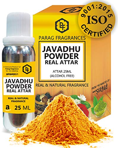 Parag Fragrances Javadhu Powder Attar 25ml (Real Indian Javadhu Beige Attar) Very Long Lasting Attar, 100% Alcohol free Attar, Best Long Lasting Attar For Man