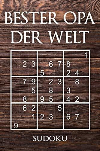 BESTER OPA DER WELT - SUDOKU: 330 knifflige Rätsel   mittel - schwer - experte   Mit Lösungen und Anleitung   Reisegröße ca. DIN A5   Für Kenner und Könner